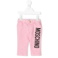 Moschino Kids logo printed jeans - Pink