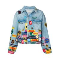 Golden Goose Deluxe Brand patch denim jacket - Blue