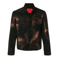 424 acid wash denim jacket - Black