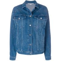 Stella McCartney distressed star denim jacket - Blue