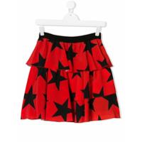 Msgm Kids Teen stars print skirt - Red