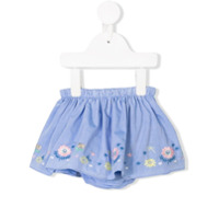 Knot flower embroidered skirt - Blue