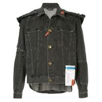 Maison Mihara Yasuhiro shoulder-patch denim jacket - Grey
