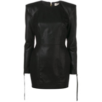 Nineminutes long-sleeved mini dress - Black