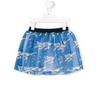 Caroline Bosmans Furbo Mesh Mini Skirt with Superman - Blue