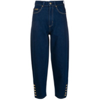Versace Jeans Couture Calça Jeans Cropped - Azul