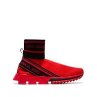 Dolce & Gabbana Tênis Meia Cano Alto - Vermelho