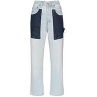 Beau Souci Calça Jeans Reta - Azul