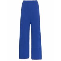 I-Am-Chen Calça De Tricô Canelado - Azul