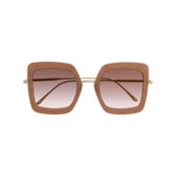 Bottega Veneta Eyewear Óculos De Sol Quadrado - Rosa