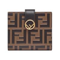 Fendi Carteira Com Logo Ff - Preto