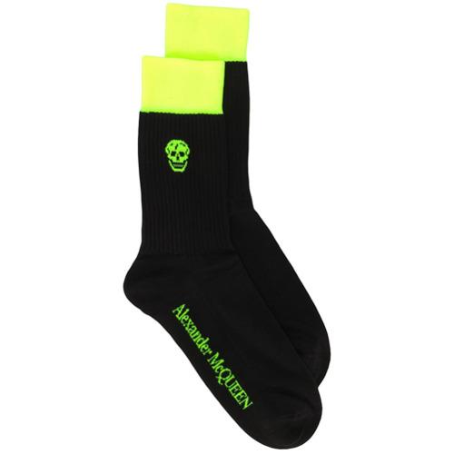 Imagem de Alexander McQueen Par de meias com logo - Preto