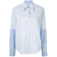 Mm6 Maison Margiela Camisa Listrada - Azul