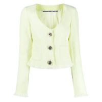Alexander Wang V-Neck Tweed Cardigan - Verde