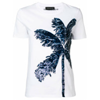 Sport Max Code Sequin Palm Tree T-Shirt - Branco