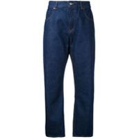 Mm6 Maison Margiela Calça Jeans Cropped - Azul
