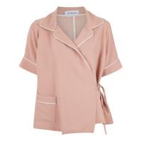 Olympiah Camisa Com Amarração - Rosa