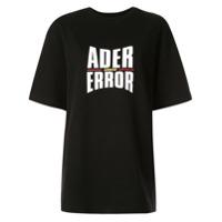 Ader Error Camiseta Oversized Com Estampa De Logo - Preto