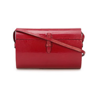 Hunting Season Oval Lizard Effect Shoulder Bag - Vermelho