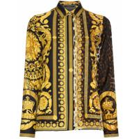 Versace Camisa De Seda - Preto
