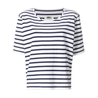 Mm6 Maison Margiela Camiseta Oversize Com Padronagem Listrada - Branco