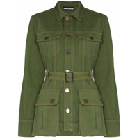 House Of Holland Belted Safari Jacket - Verde