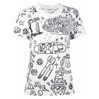 Junya Watanabe Camiseta Mangas Curtas - Branco