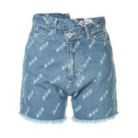 Ground Zero Asymmetric Denim Shorts - Azul
