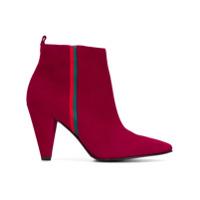 Kennel&schmenger Ankle Boot Bico Fino De Couro - Vermelho