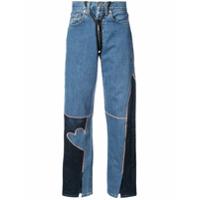 Neith Nyer Calça Jeans Com Detalhe De Cristal - Azul