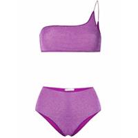 Oseree One-Shoulder Bikini Set - Roxo