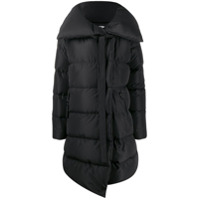 Bacon Long Oversized Collar Down Jacket - Preto