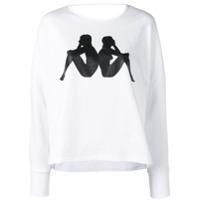 Kappa Camiseta Com Logo - Branco
