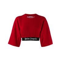 Palm Angels Camiseta Cropped - Vermelho