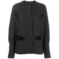 Uma Wang Striped Panelled Jacket - Preto