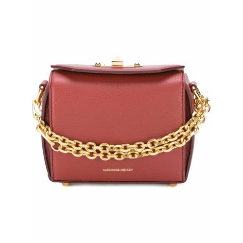 Imagem de Alexander McQueen Bolsa de couro 'Box Bag 16' - Rosa