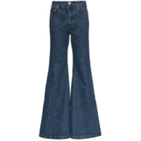 Matthew Adams Dolan Calça Jeans Flare - Azul
