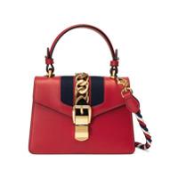 Gucci Bolsa Mini De Couro 'sylvie' - Vermelho