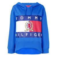 Hilfiger Collection Blusa De Moletom Oversized Com Estampa - Azul