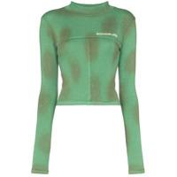Eckhaus Latta Blusa Slim De Jersey Com Logo - Verde