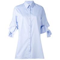 Victoria Victoria Beckham Camisa Com Detalhe De Amarração - Azul