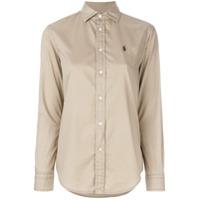 Polo Ralph Lauren Camisa Com Logo Bordado - Neutro