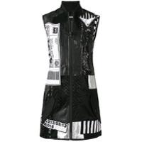 Ktz Patchwork Bomber Dress - Preto