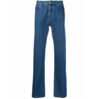 Loewe logo-print tapered jeans - Azul