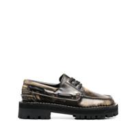 Camperlab Sapato Eki Com Cadarço E Efeito Escovado - Marrom