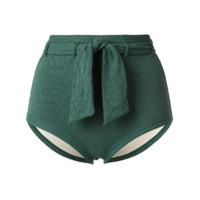 Peony Calcinha De Biquíni Sash Com Cinto - Verde
