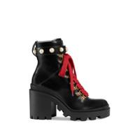 Gucci Ankle Boot De Couro - Preto