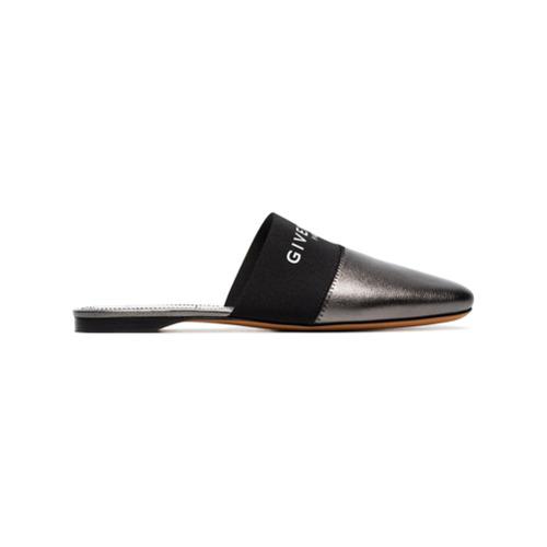 Imagem de Givenchy metallic Bedford leather slippers - Metálico