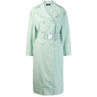 Kwaidan Editions Oversized Belt Trench Coat - Verde