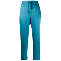 Semicouture Drawstring Cropped Trousers - Azul